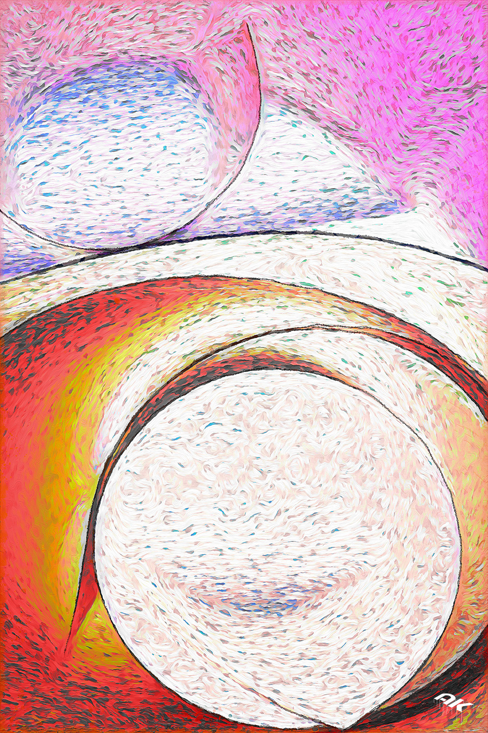 Colored rounded plate closeup. Background vertical photo.