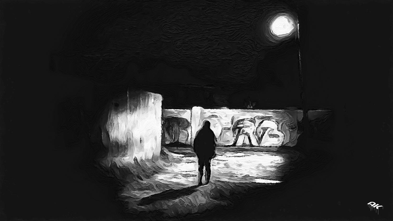 The corner – Dublin, Ireland – Black and white street photograph